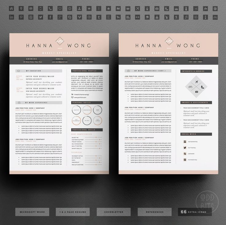 69 best Resumes images on Pinterest Cv template, Design resume - resumes that get noticed