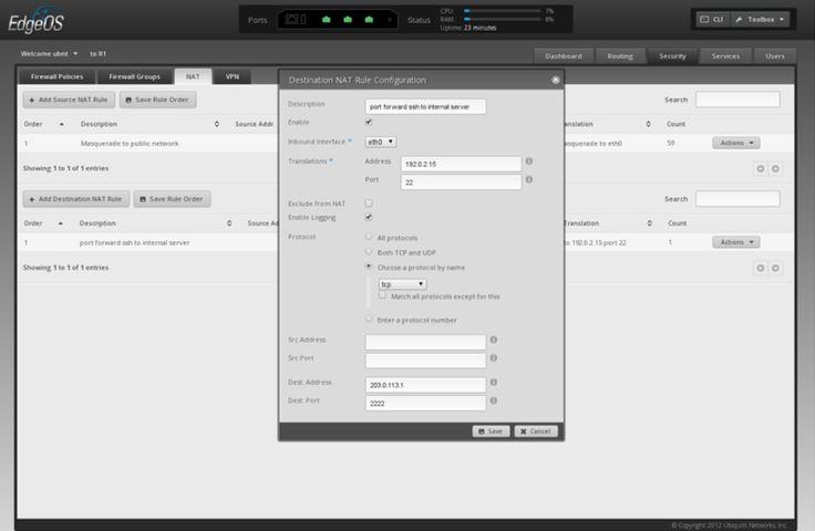 Port forwarding configuration v1 0
