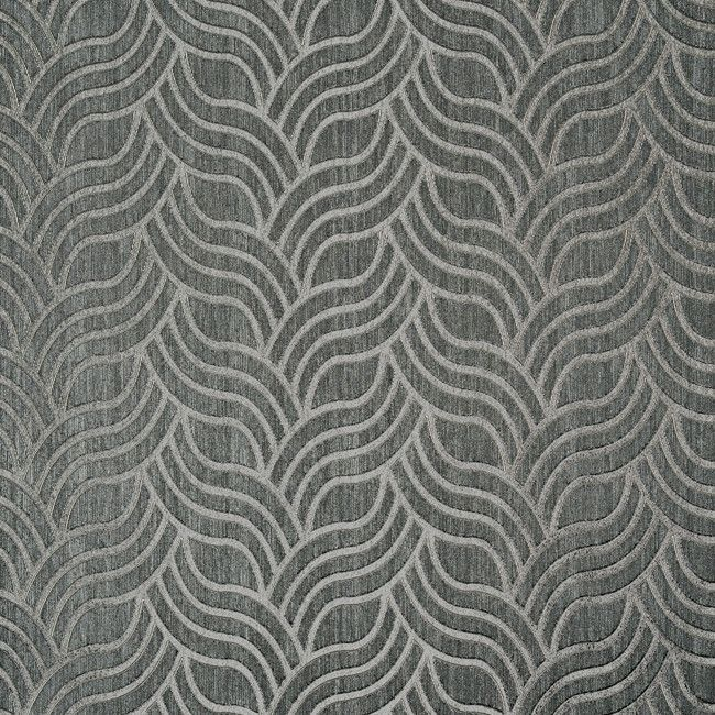 Sample of Nouveau Wallpaper in Blue and Silver design by York Wallcoverings