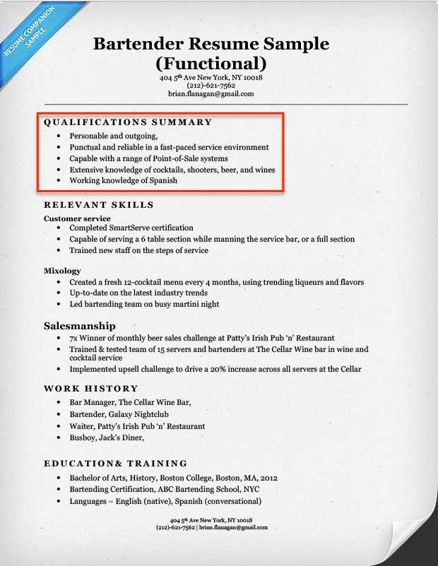 create resume profile steps tips amp examples companion executive - bar porter sample resume