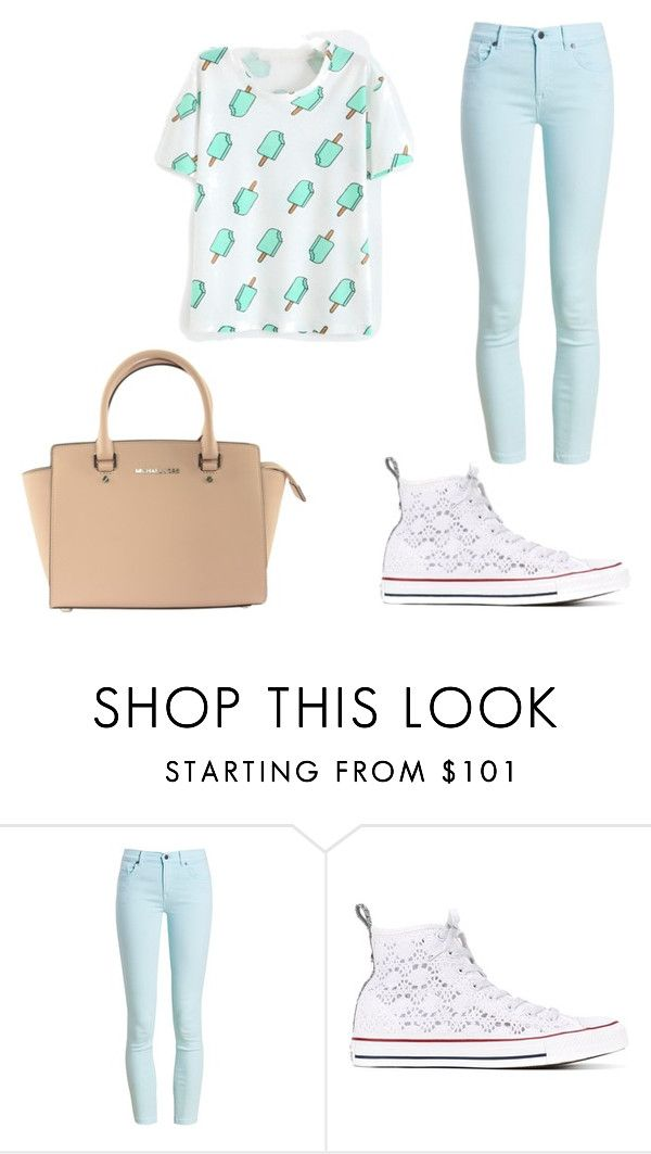 """""""Untitled #2"""" by kennedyk22-1 ❤ liked on Polyvore featuring Barbour, Converse and Michael Kors"""