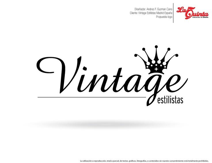 Propuesta logo vintage estilistas