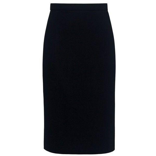 Theory - HEMDALL Pencil Skirt ($153) ❤ liked on Polyvore featuring skirts, pencil skirts, knee length pencil skirt, theory skirt and travel skirt
