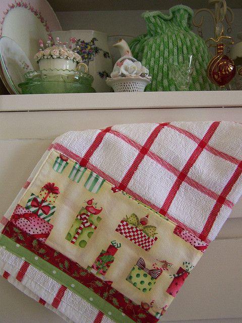 Shabby Chic Christmas towel | Flickr - Photo Sharing!