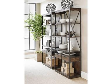 Stanley Furniture. Bookcases and creative storage ideas for you home. Available at Good's Home Furnishings. Visit us today for some great storage solutions.