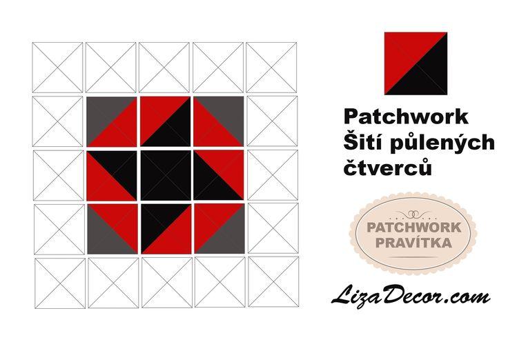 Základy patchworku (1.díl). Rychlé šití půlených čtverců.