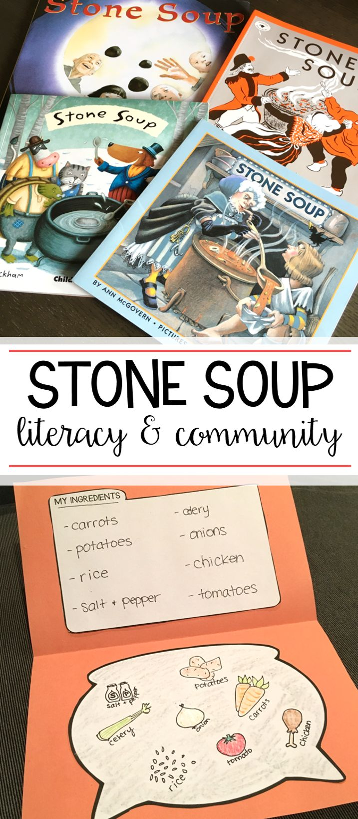 Students love comparing and contrasting different versions of Stone Soup around Thanksgiving! This unit has tons of ideas for building community during the holidays, all while reading and writing!