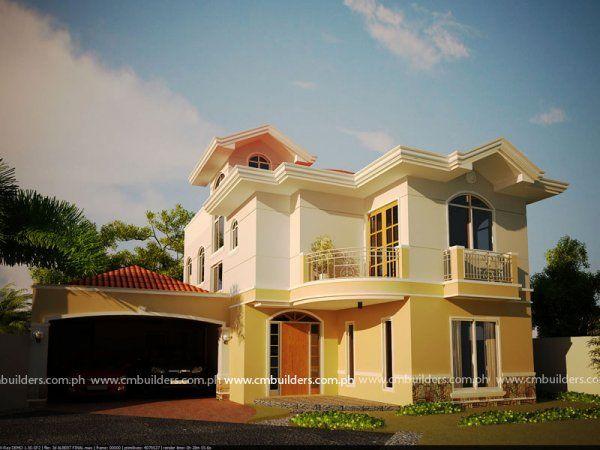 House design cm builders philippine houses pinterest for Modern mediterranean house plans philippines