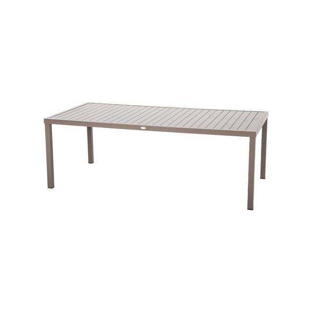 Table de jardin rectangulaire Piazza Aluminium 8 places ...
