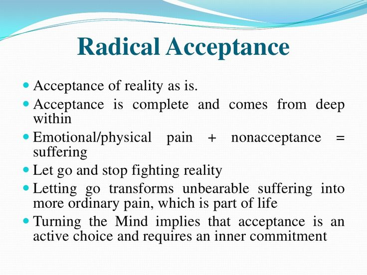 Letting go and accepting what you cannot control is hard but worth it. Try radical acceptance everyday. It will become easier the more you consciously try and work on it.