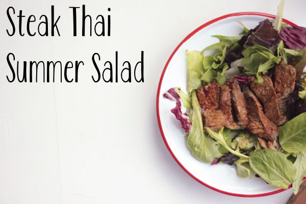Easy Meal – Steak Thai Summer Salad by Roasted Montreal #TKeveryday