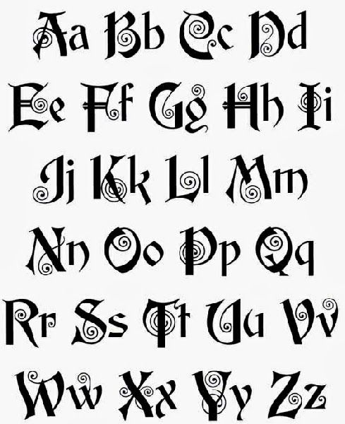 Tattoo Gaelic Font Creater: Gaelic Letters Font – Www