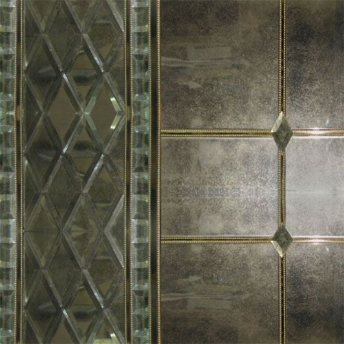 antiqued mirror glass panels - Google Search