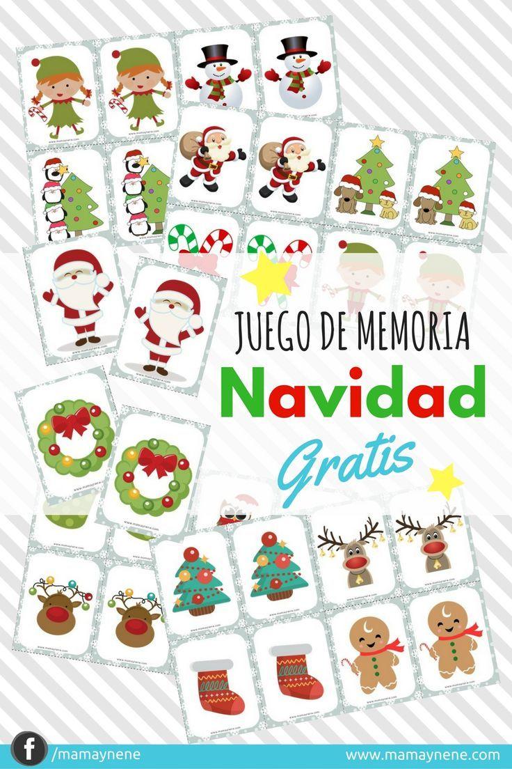 Memory game-  Juego de Memoria Navidad -mamaynene