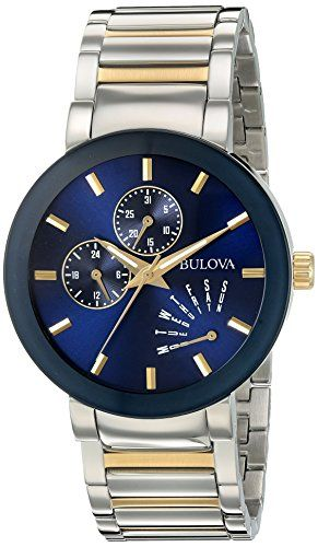 Bulova Men's Quartz Stainless Steel Dress Watch, Color:Two Tone (Model: 98C123) https://www.carrywatches.com/product/bulova-mens-quartz-stainless-steel-dress-watch-colortwo-tone-model-98c123/ Bulova Men's Quartz Stainless Steel Dress Watch, Color:Two Tone (Model: 98C123)  #bulovagoldwatch-goldbulovawatches #bulovaquartz #dresswatch #oldbulovawatches-antiquebulovawatches-vintagebulovawatches...