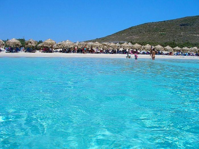 Stunning turquoise crystal waters ! Simos beach, Elafonissos island #Greece