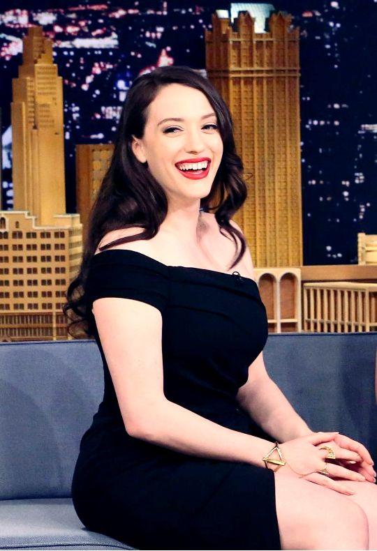 Kat Dennings on The Tonight Show Starring Jimmy Fallon in New York City [28 September 2015]