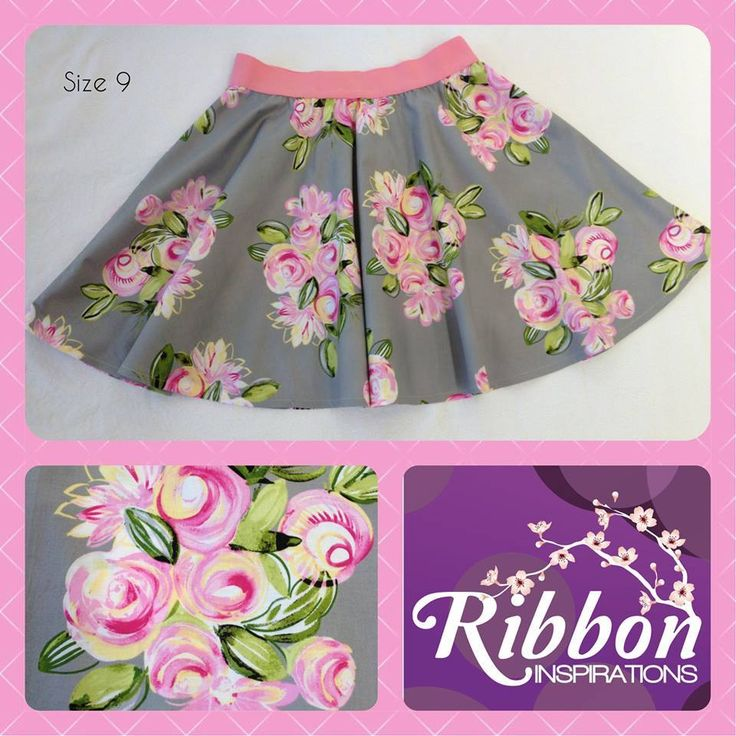 Handmade by Kate from Ribbon Inspirations. Size 9 thigh length Boo! designs skater skirt in gorgeous soft quilting cotton.
