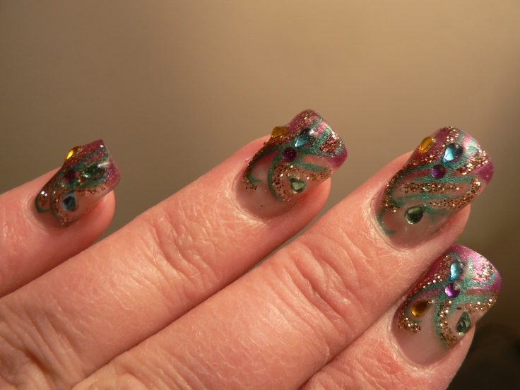 18 best Mardi Gras - Nails images on Pinterest | Mardi gras, Nail ...