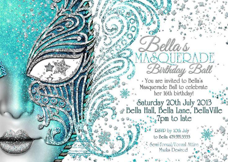 Masquerade Invitation, Mardi Gras Party, Party Invitations, Masquerade Party by BellaLuElla on Etsy https://www.etsy.com/listing/130834922/masquerade-invitation-mardi-gras-party
