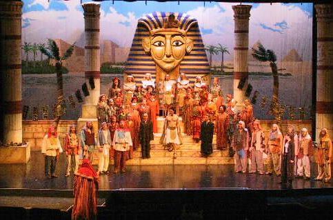 Joseph and the Amazing Technicolor Dreamcoat, Lyric Theater, Burlington, VT, Set Design:  Rick Loya.