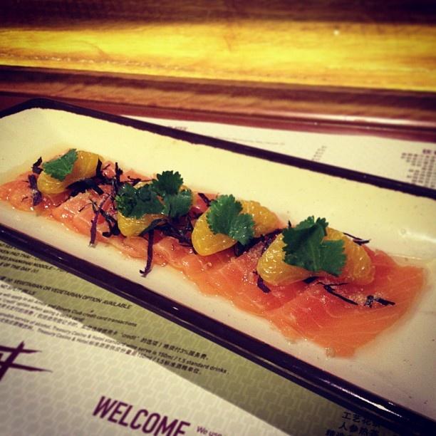 Sashimi from Luke Ngyuen's Fat Noodle Restaurant