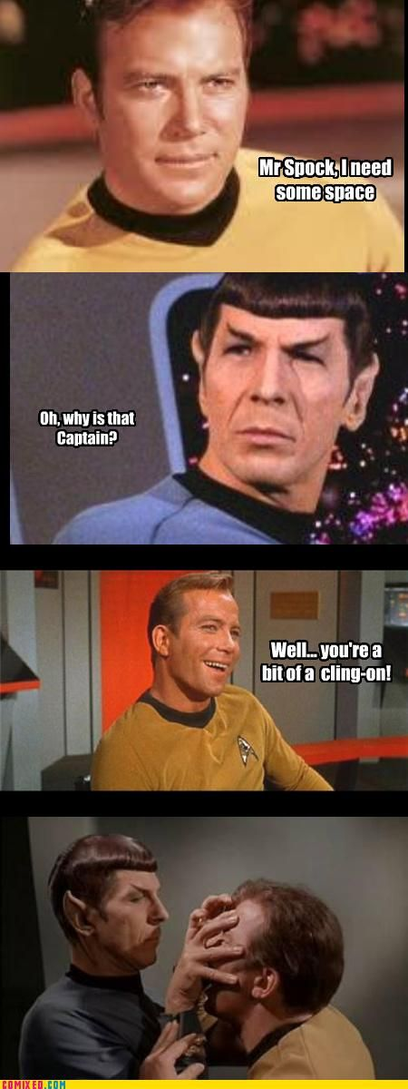 don't hurt Spock's feelings. he has them.