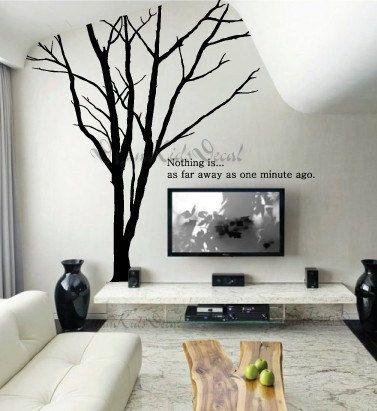 Wall Decal Wall Sticker tree decal Vinyl decal- Giant Winter Tree-wall art-DK030