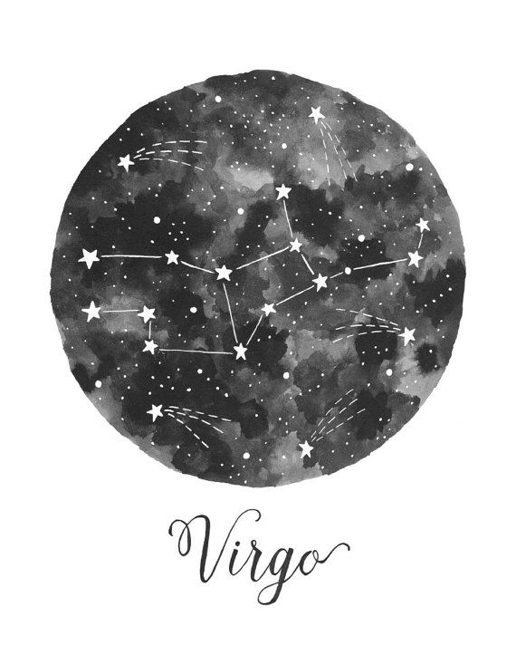 Virgo Constellation Illustration Vertical by fercute on Etsy
