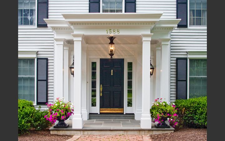 Federal Colonial Portico Really Like House Ideas