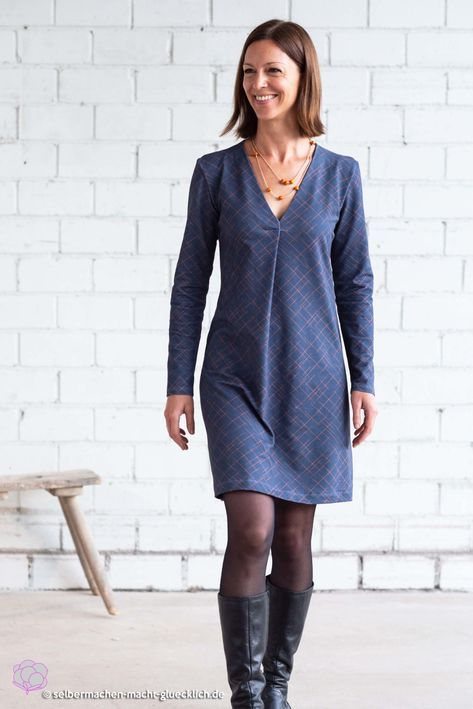 The perfect feel-good dress for festive occasions just sew it yourself! This…   – Nähen