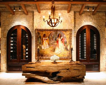 Mediterranean Wine Cellar Design Ideas, Pictures, Remodel and Decor