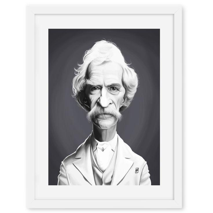 Mark Twain art | decor | wall art | inspiration | caricatures | home decor | idea | humor | gifts