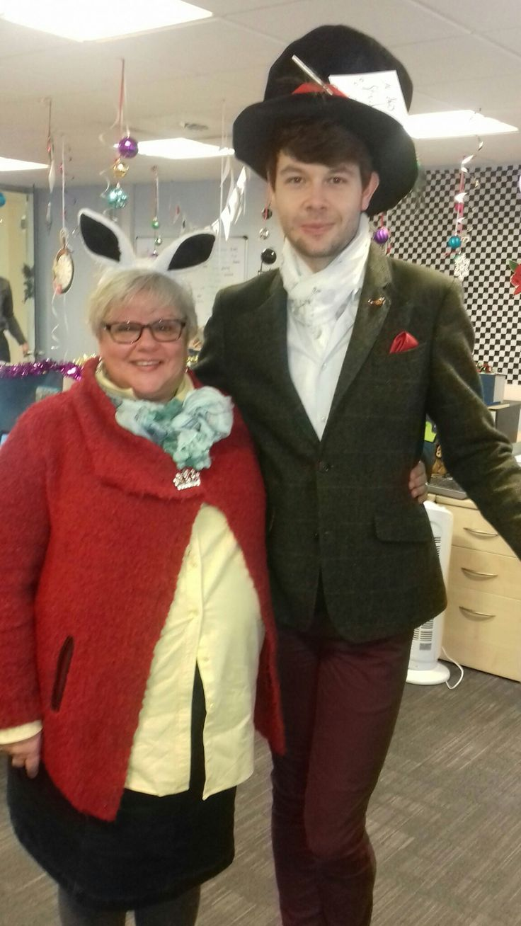Jason as Hatter and me as White Rabbit