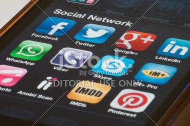 Social Network Application Royalty Free Stock Photo