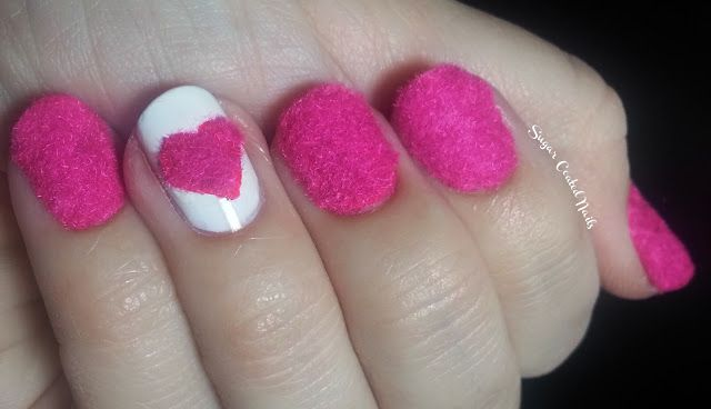 Sugar Coated Nails: Day Five - Lace or Fabric http://sugar-coated-nails.blogspot.com/2013/02/day-five-lace-or-fabric.html