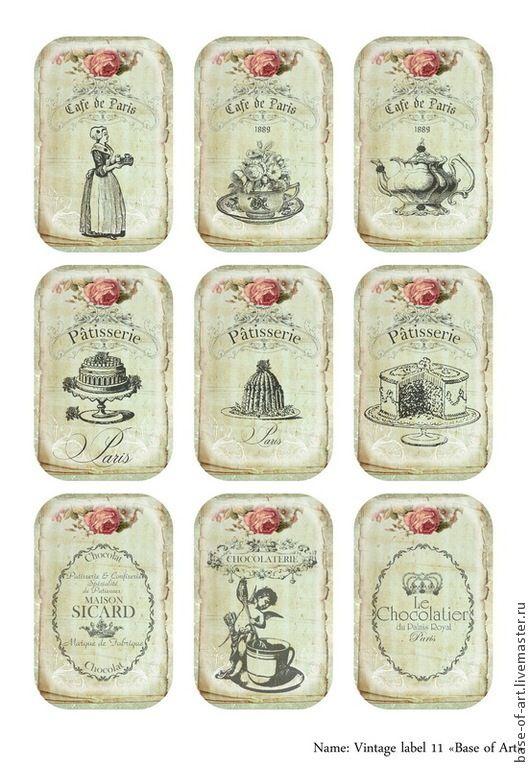 Декупажные карты открытки винтажные