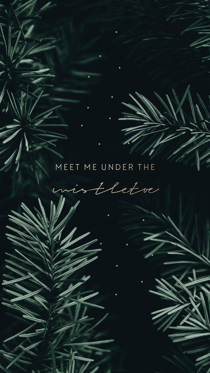 Treffen Sie mich unter der Mistel #wallpaper #christmas #lockscreen