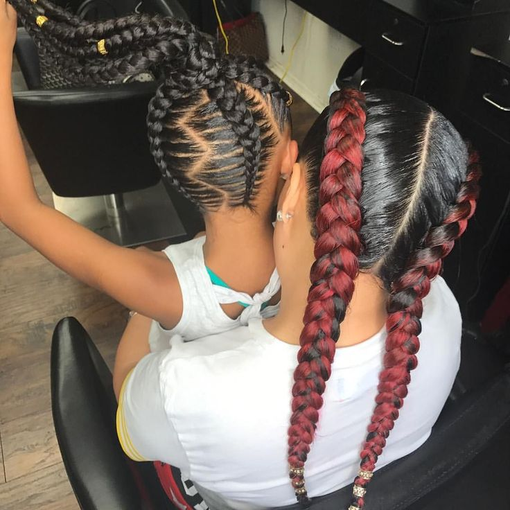"""908 Likes, 6 Comments - Your Professional Braider✂️❤️ (@neshae_ro) on Instagram: """"Mommy and me #2 ‼️‼️ @tra_82"""""""
