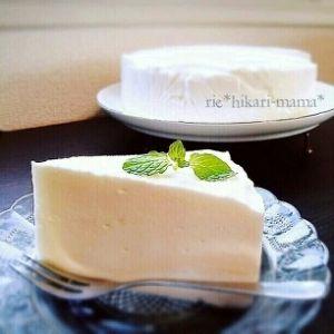 混ぜるだけ!プルプルふわふわヨーグルトケーキ♡ レシピ・作り方 by ひかりママ*|楽天レシピ