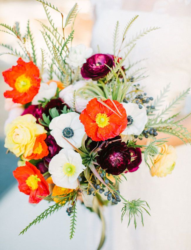 poppy + anemone bouquet