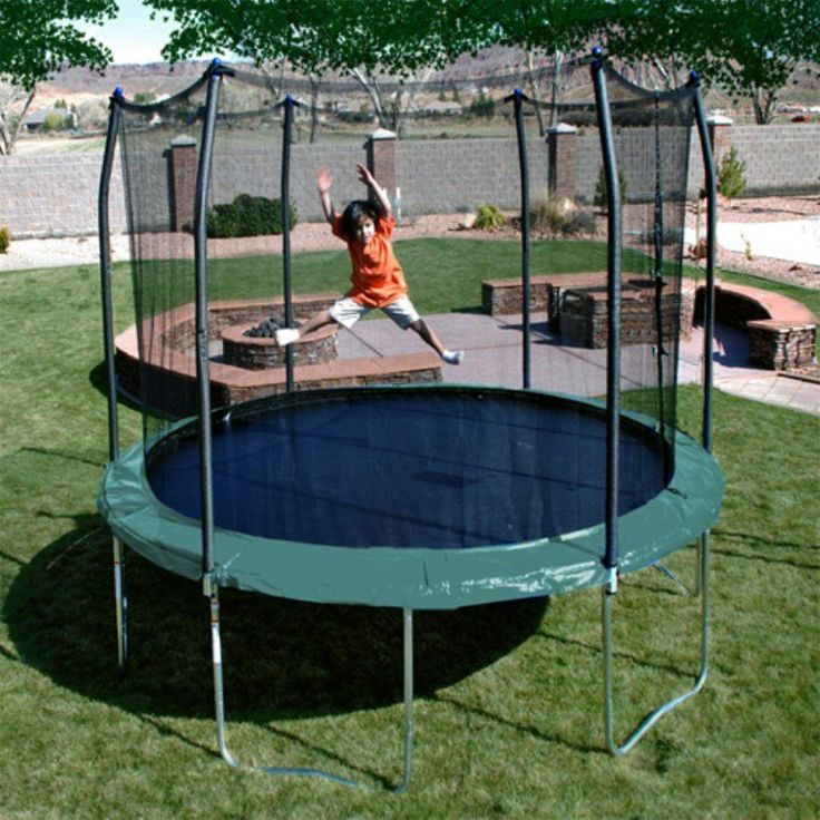 Skywalker 12-ft. Round Trampoline with Enclosure Green - STEC12G
