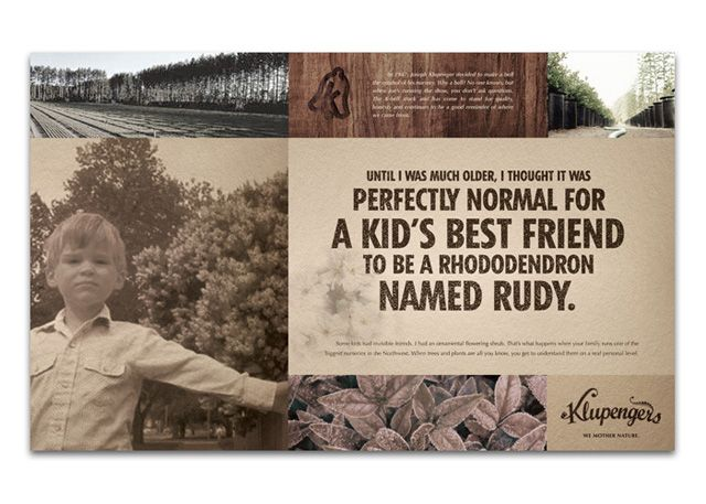 Klupengers Nursery Ads by Tyler Kongslie at Coroflot.com
