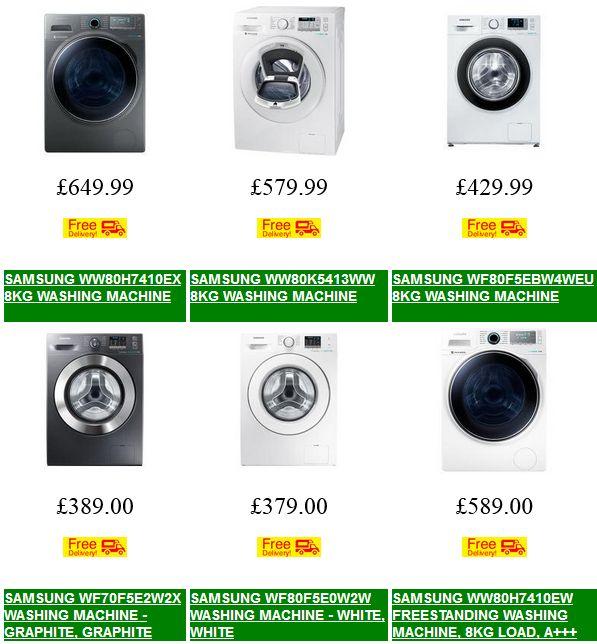 Cheap Samsung Washing Machine Deals   AddWash Ecobubble Washing Machines