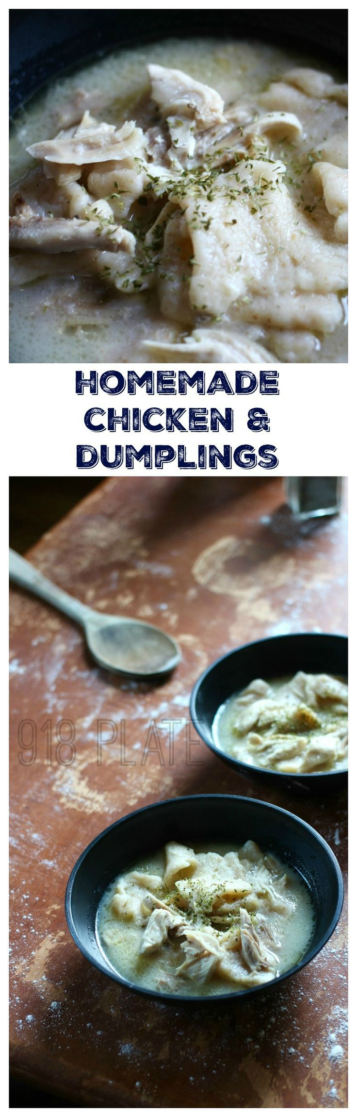 Cracker Barrel Lookalikes: Chicken and Dumplings at home - made with local, pastured chicken! via 918 Plate
