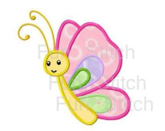 Butterfly applique machine embroidery design by WendysStitch