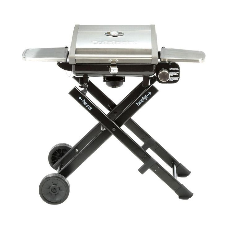 Cuisinart All Foods Roll-Away Propane Gas Grill, Silver