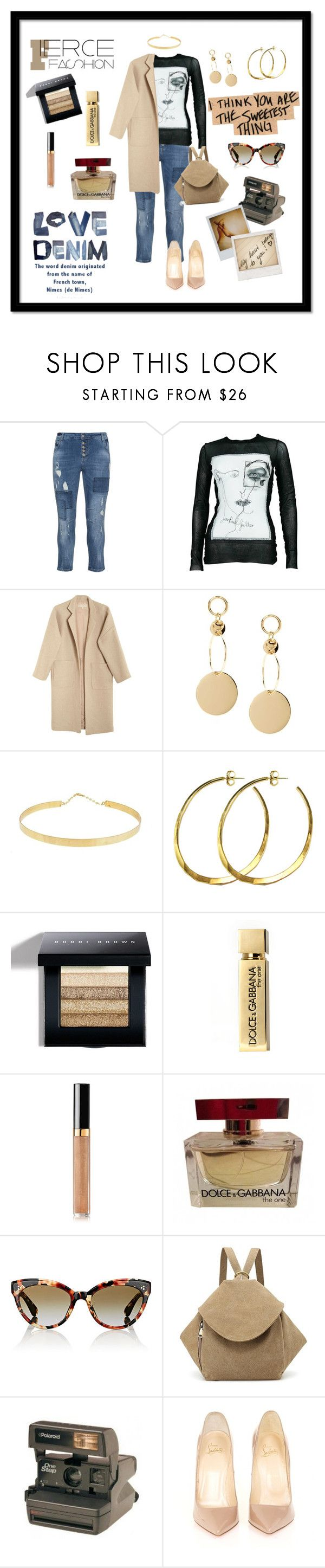 """""""I Think You're The Sweetest Thing"""" by gigiglow ❤ liked on Polyvore featuring DNY, Jean-Paul Gaultier, Mara Hoffman, Lana Jewelry, Rebecca Norman, Bobbi Brown Cosmetics, Dolce&Gabbana, Chanel, Oliver Peoples and Polaroid"""