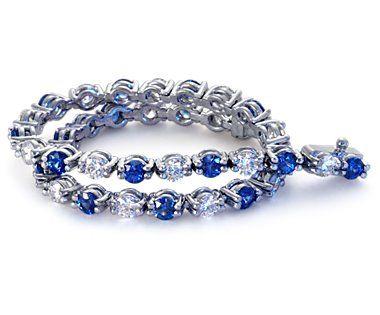 Sapphire and Diamond Eternity Bracelet