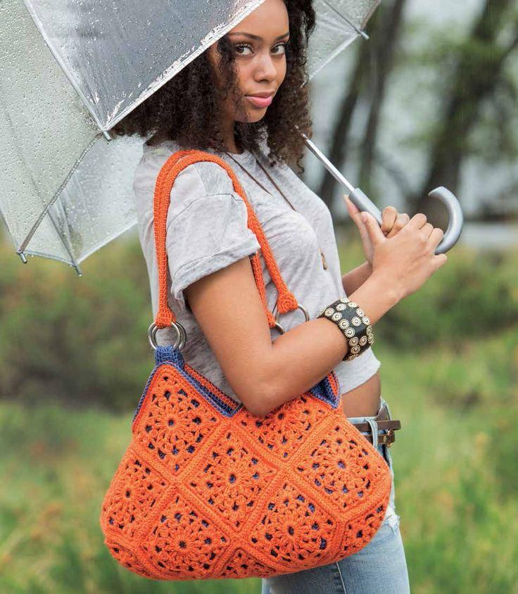 Delia Bag Pattern; Brenda K. B. Anderson; Crochetscene 2014 | InterweaveStore.com